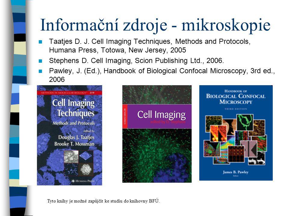 Informační zdroje - mikroskopie