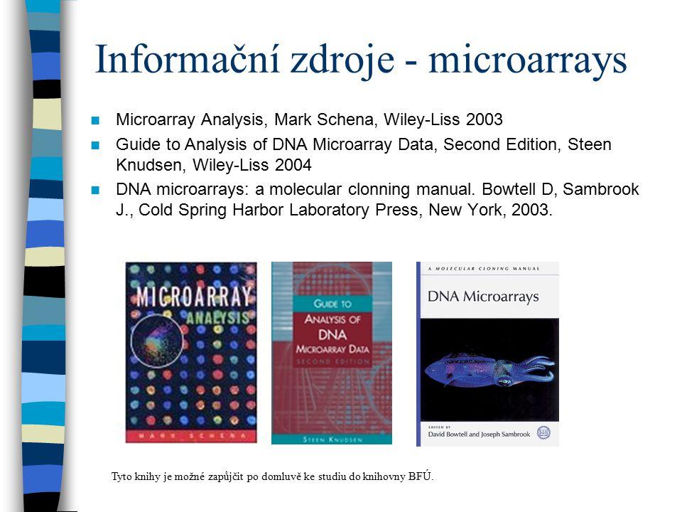 Informační zdroje - microarrays