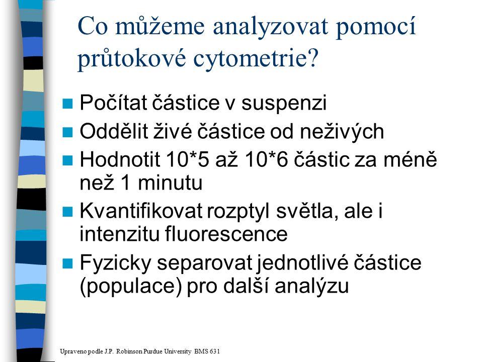 Co můžeme analyzovat pomocí průtokové cytometrie