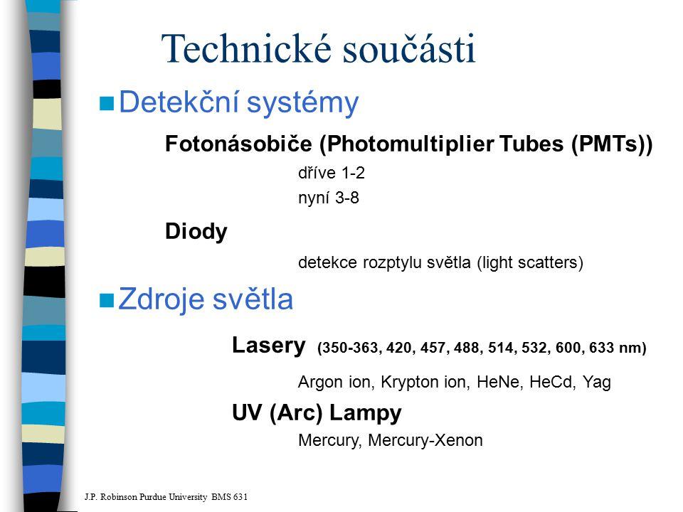 Technické součásti Detekční systémy Zdroje světla