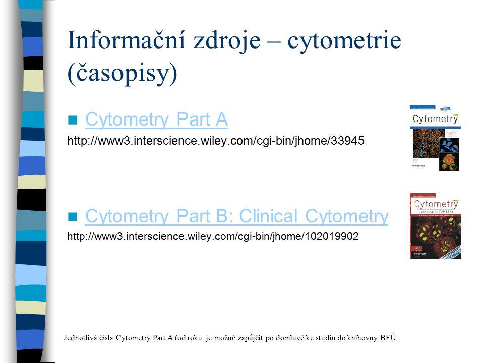Informační zdroje – cytometrie (časopisy)