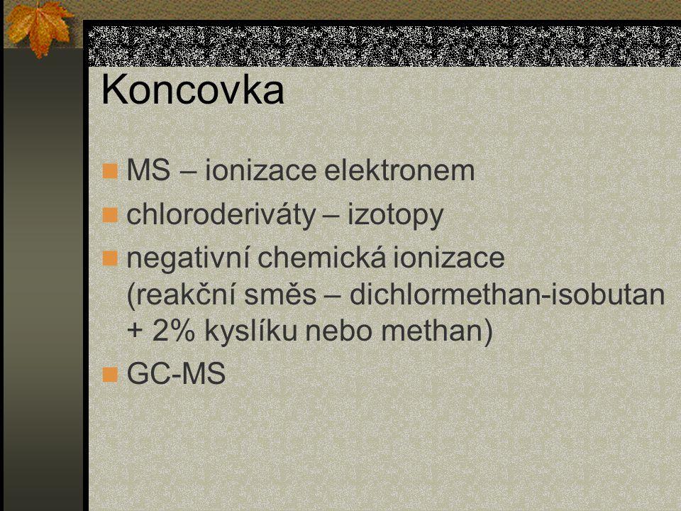 Koncovka MS – ionizace elektronem chloroderiváty – izotopy
