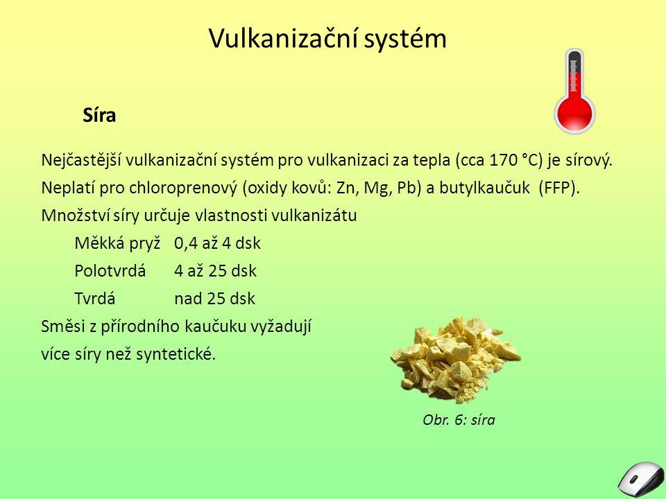 Vulkanizační systém Síra