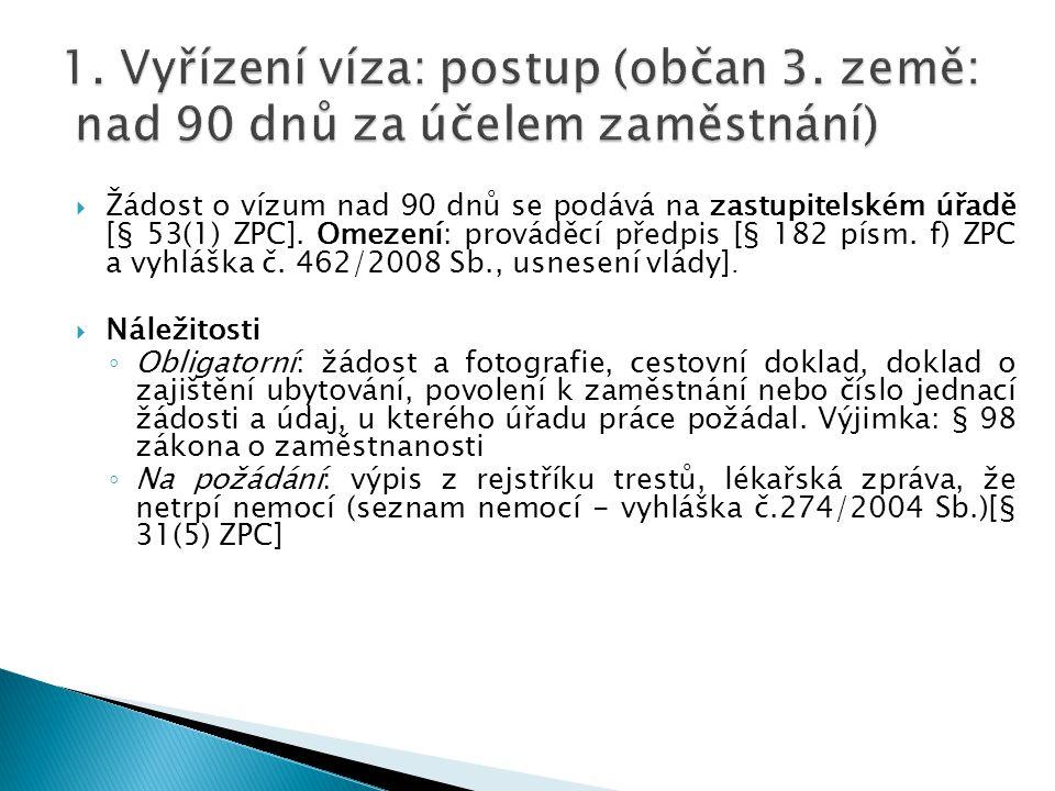 1. Vyřízení víza: postup (občan 3
