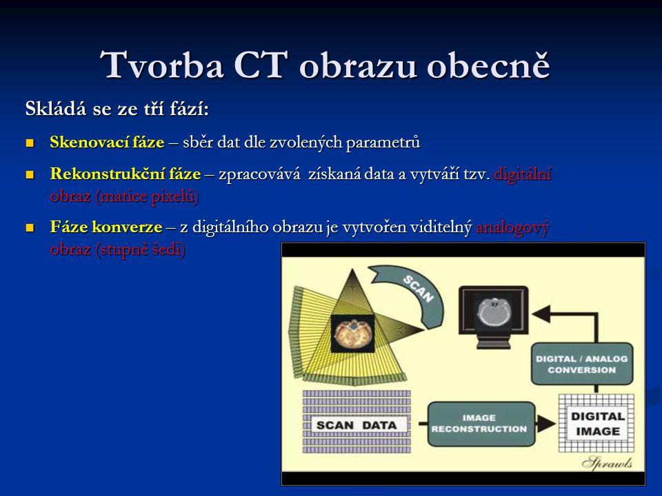 Tvorba CT obrazu obecně