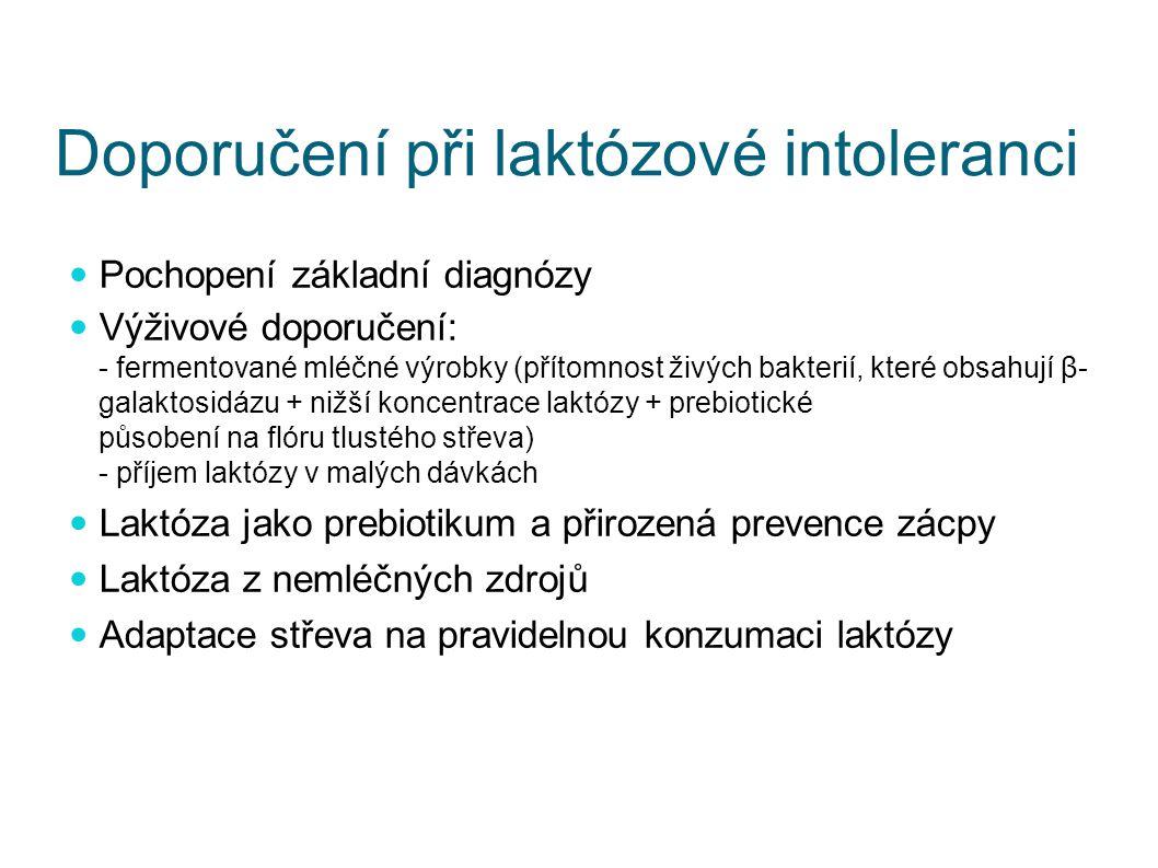 Doporučení při laktózové intoleranci
