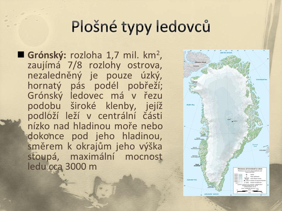 Plošné typy ledovců