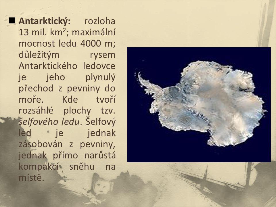 Antarktický: rozloha 13 mil