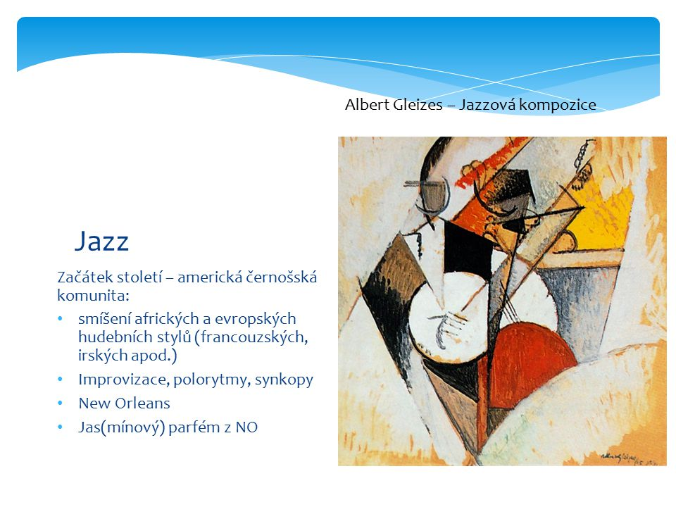 Jazz Albert Gleizes – Jazzová kompozice