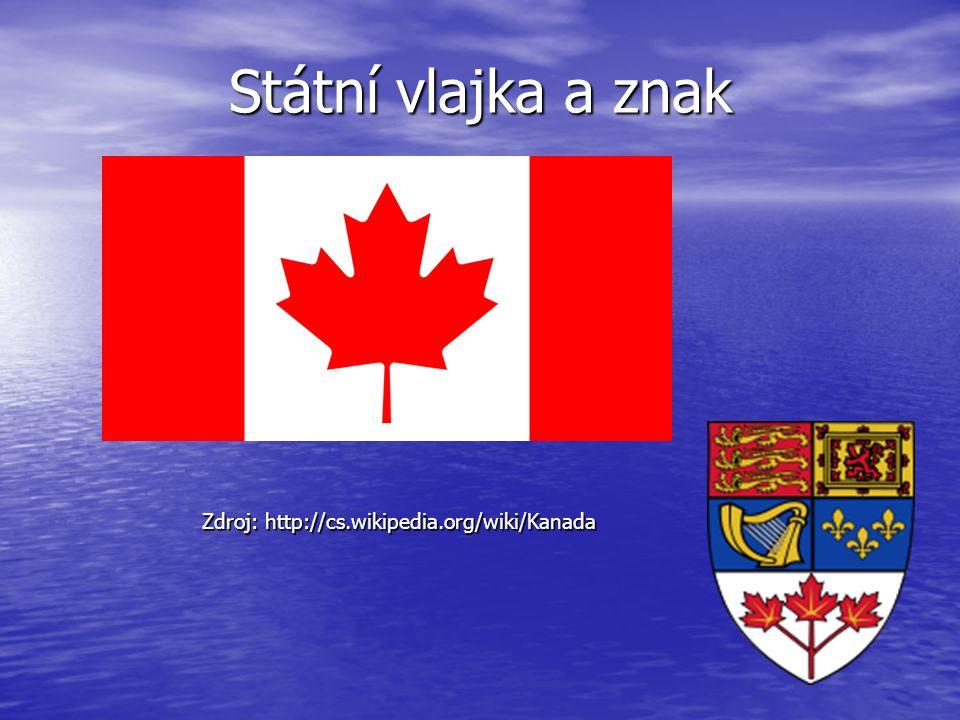 Státní vlajka a znak Zdroj: http://cs.wikipedia.org/wiki/Kanada