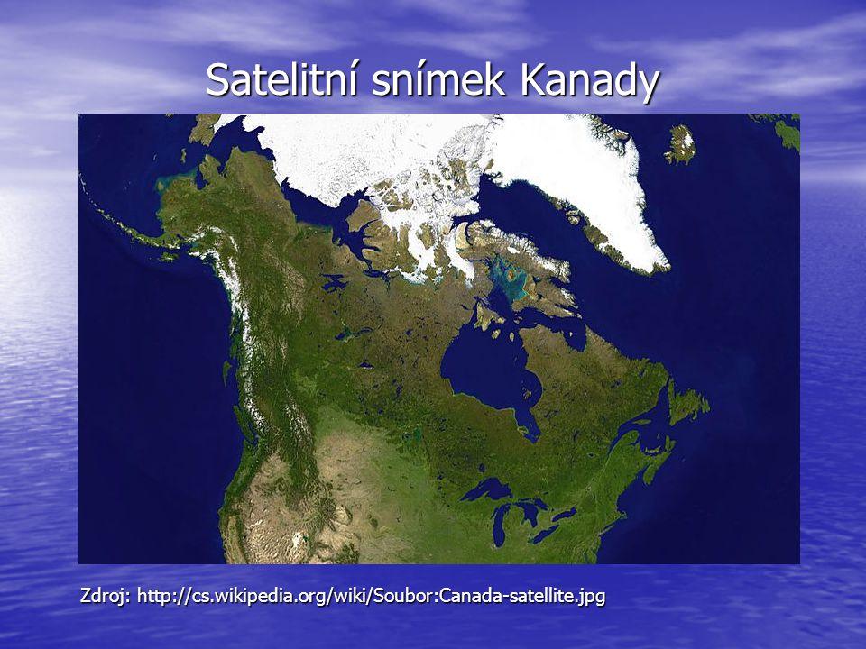 Satelitní snímek Kanady