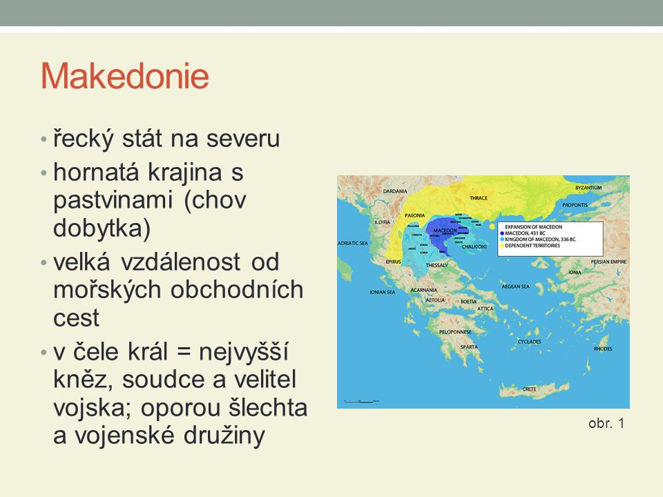Makedonie řecký stát na severu