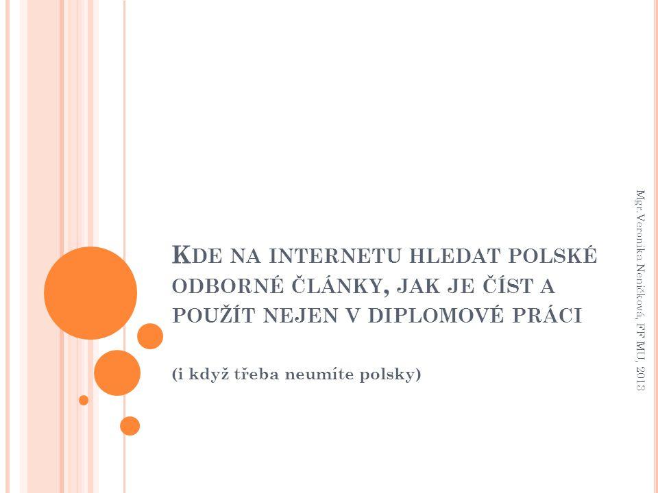 (i když třeba neumíte polsky)