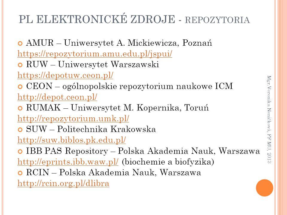 PL ELEKTRONICKÉ ZDROJE - repozytoria