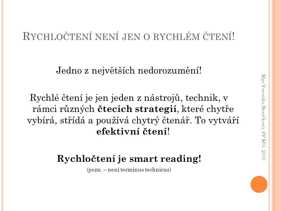 Rychločtení není jen o rychlém čtení!