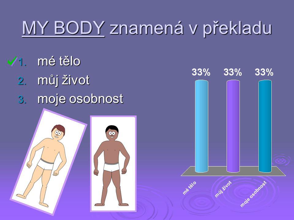 MY BODY znamená v překladu