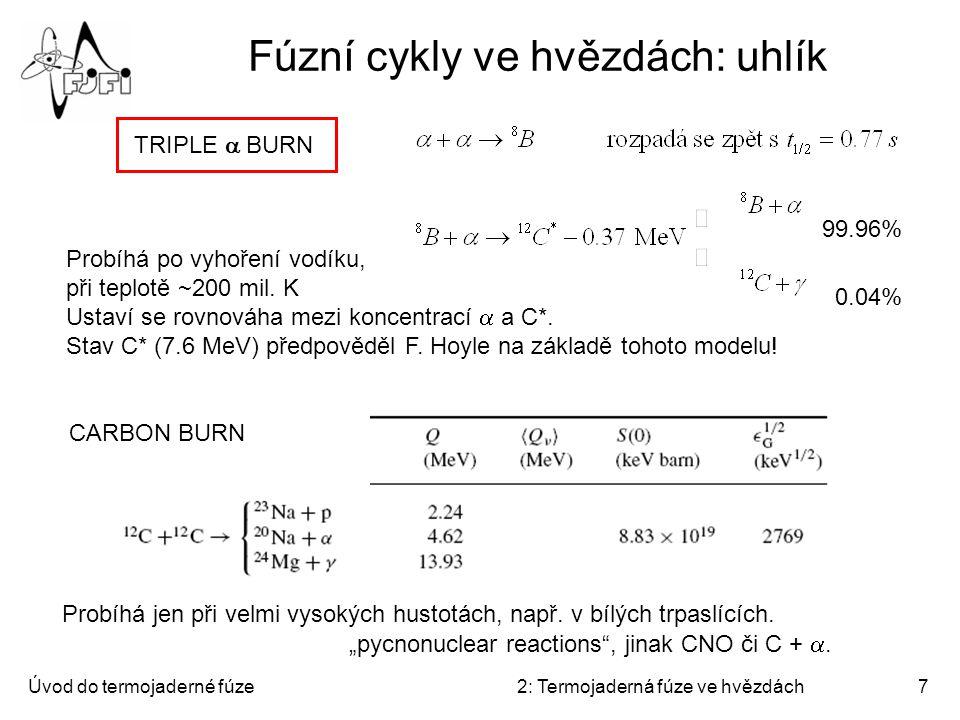 Fúzní cykly ve hvězdách: uhlík