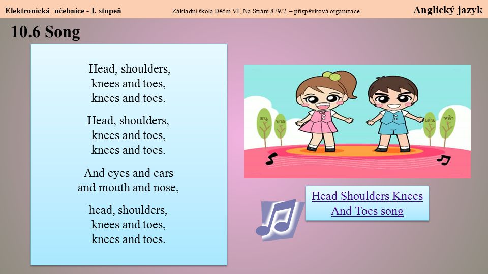 Head Shoulders Knees And Toes song