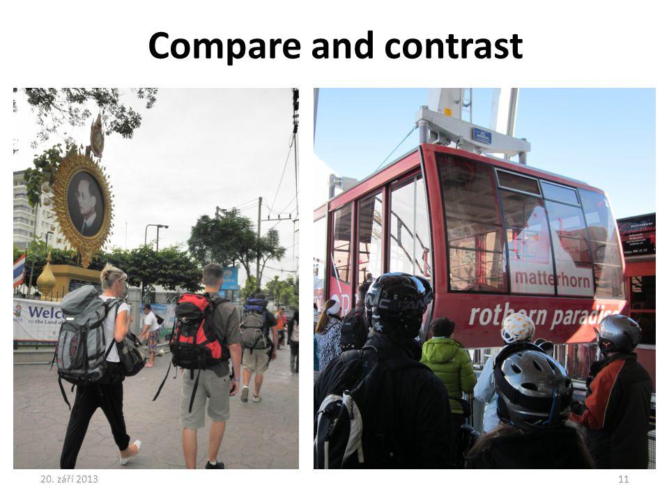 Compare and contrast 20. září 2013