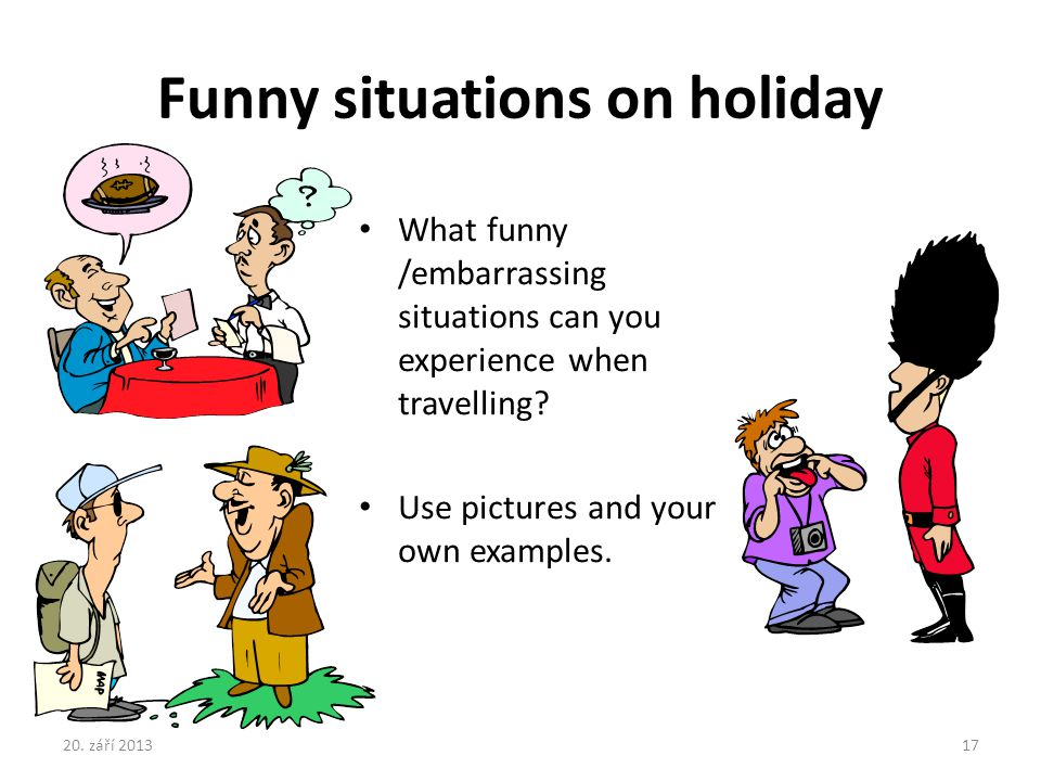 Funny situations on holiday