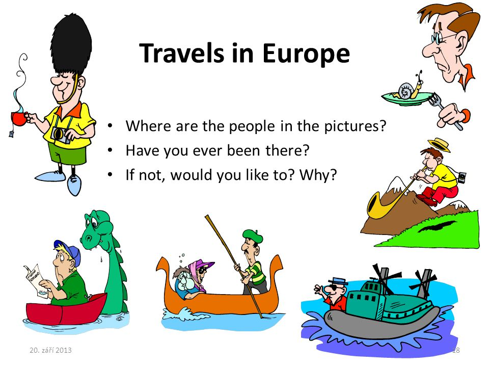 Travels in Europe Where are the people in the pictures
