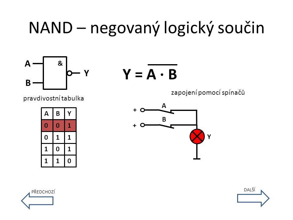 NAND – negovaný logický součin