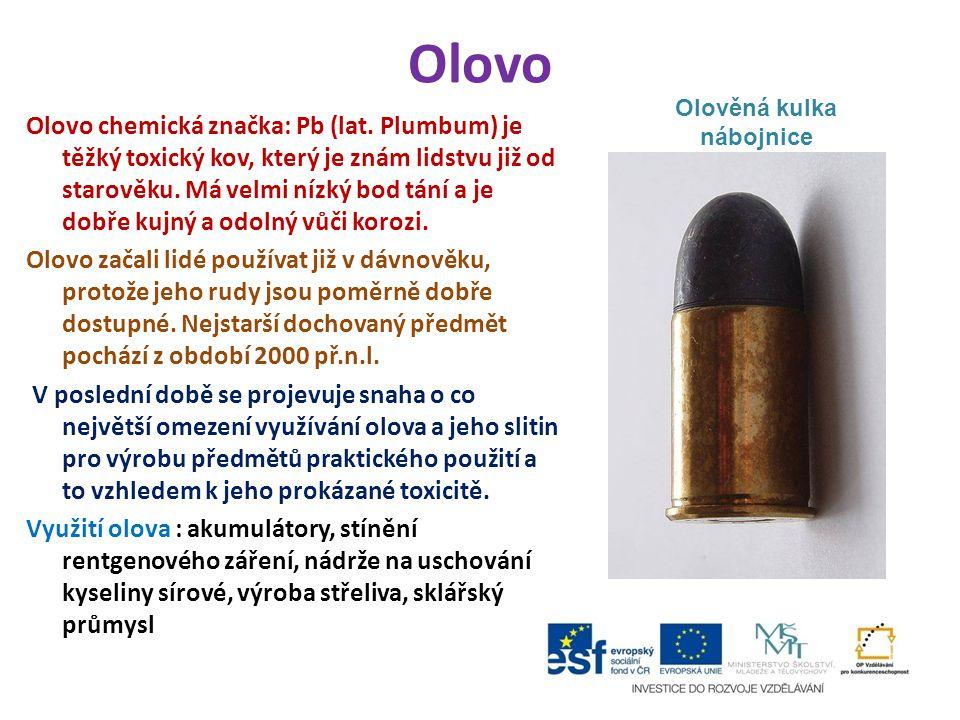 Olověná kulka nábojnice