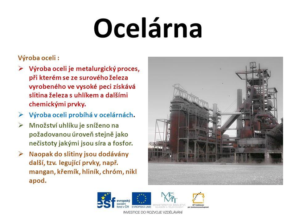 Ocelárna Výroba oceli :