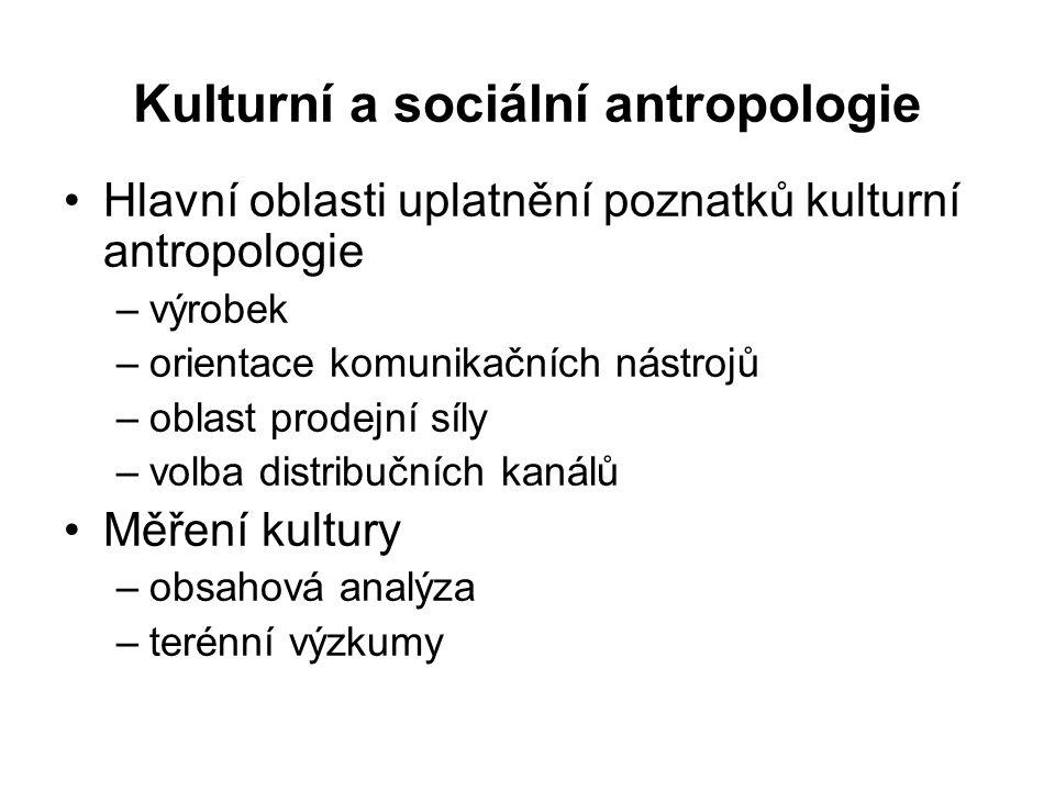 Kulturní a sociální antropologie