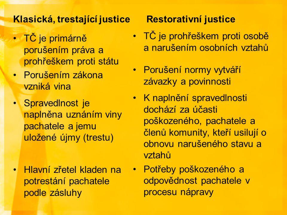 Klasická, trestající justice