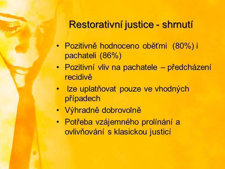 Restorativní justice - shrnutí
