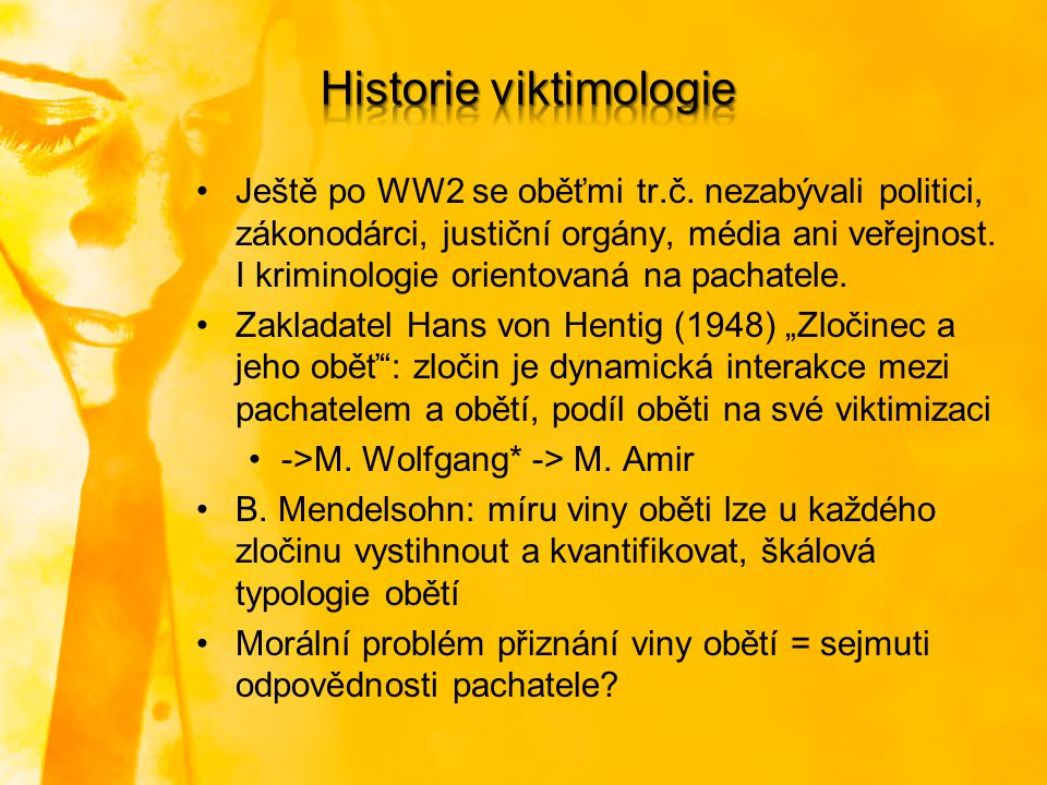 Historie viktimologie