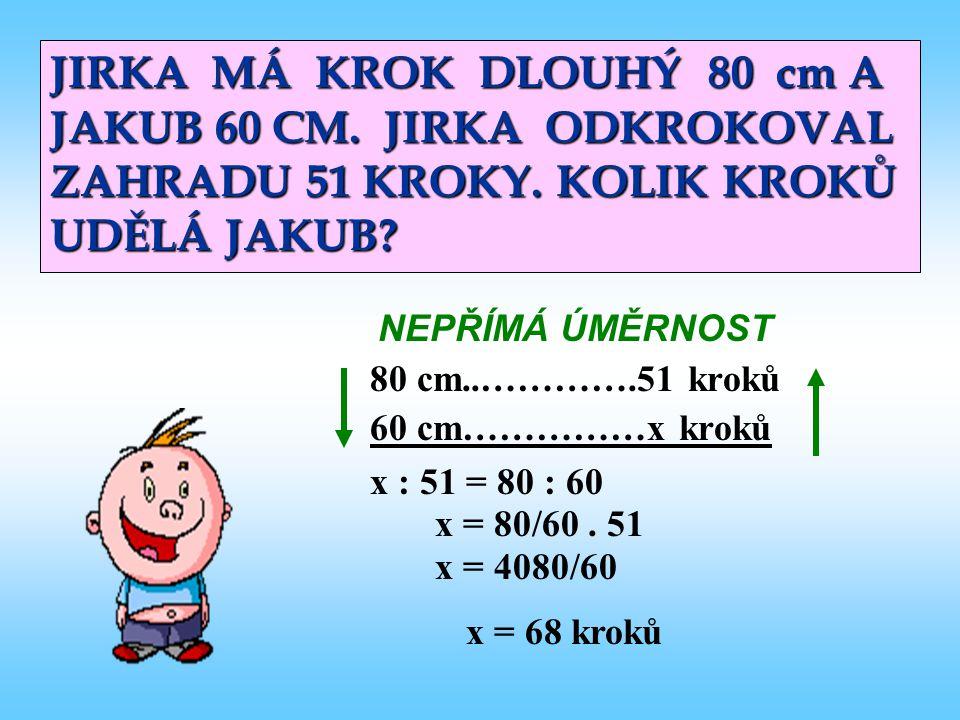 JIRKA MÁ KROK DLOUHÝ 80 cm A JAKUB 60 CM