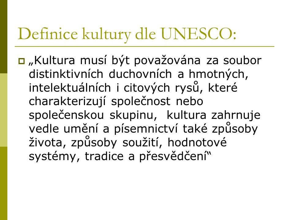 Definice kultury dle UNESCO: