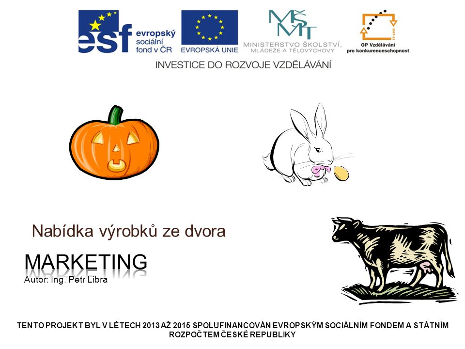Marketing Autor: Ing. Petr Libra