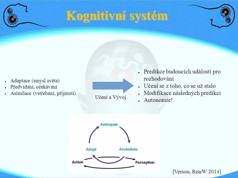 Kognitivní systém Většinou velmi předprogramovaní, na dálkové ovládání
