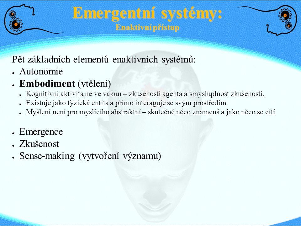 Emergentní systémy: Enaktivní přístup