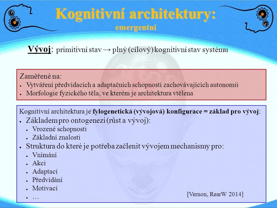 Kognitivní architektury: