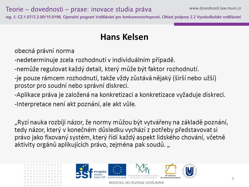 Hans Kelsen obecná právní norma