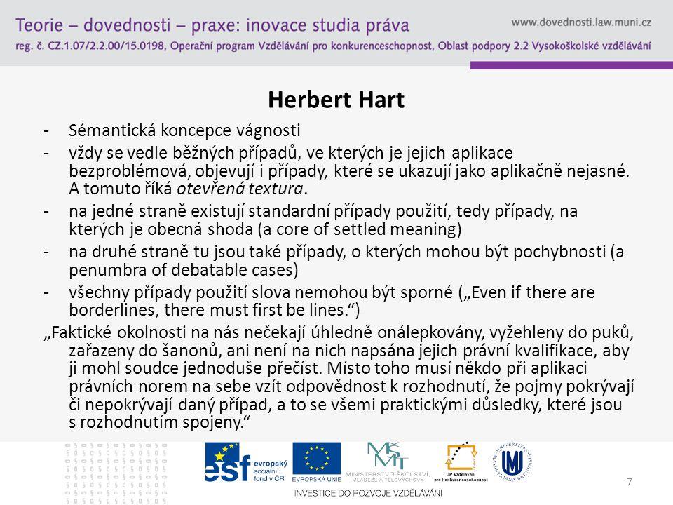 Herbert Hart Sémantická koncepce vágnosti