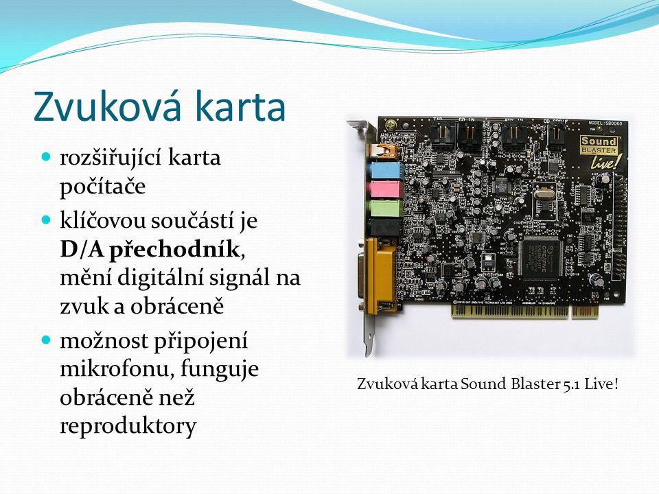 Zvuková karta rozšiřující karta počítače