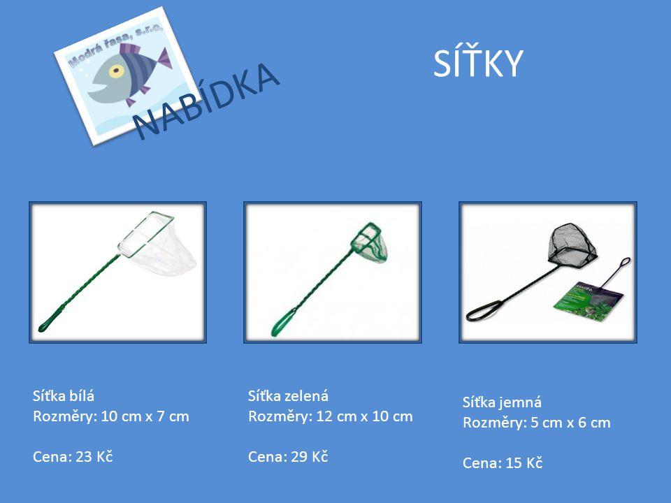 SÍŤKY NABÍDKA Síťka bílá Rozměry: 10 cm x 7 cm Cena: 23 Kč