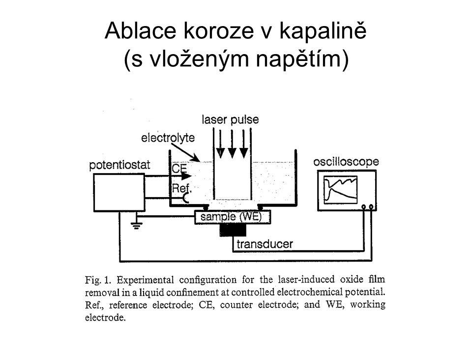 Ablace koroze v kapalině (s vloženým napětím)