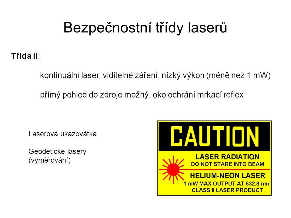 Bezpečnostní třídy laserů