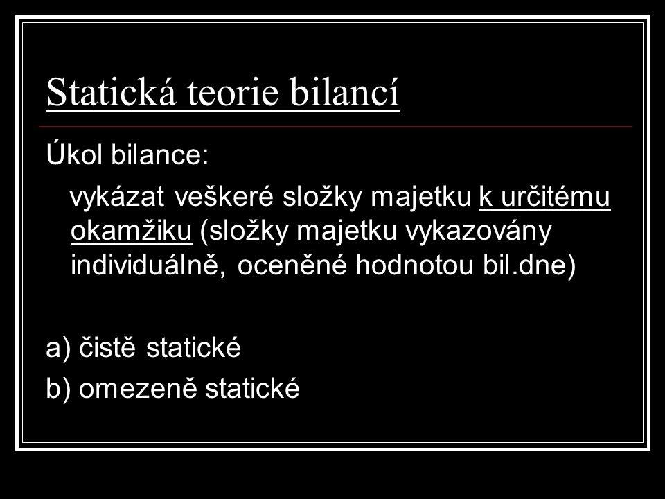 Statická teorie bilancí