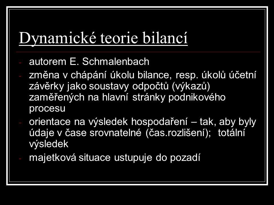 Dynamické teorie bilancí