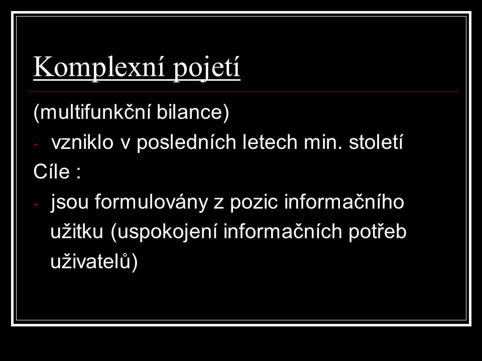 Komplexní pojetí (multifunkční bilance)
