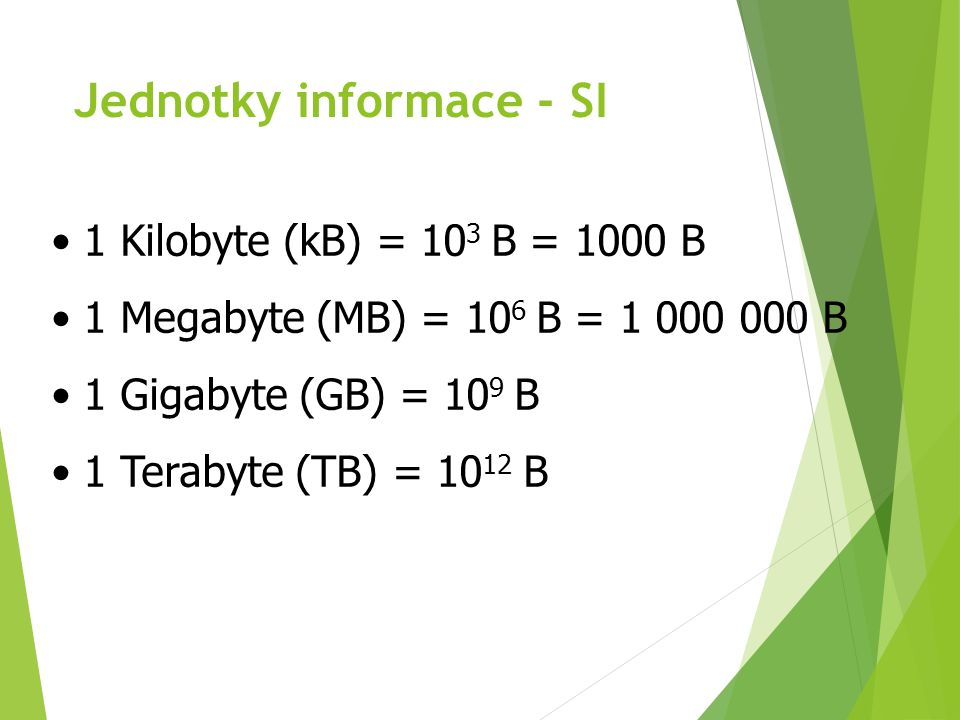 Jednotky informace - SI