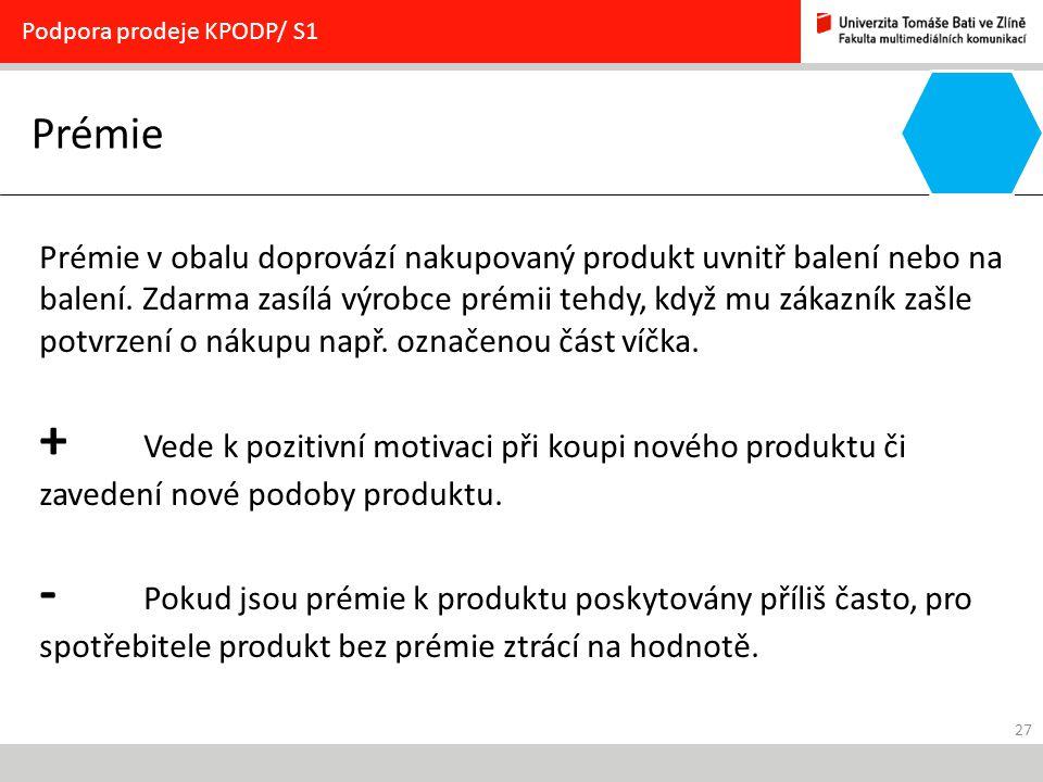 Podpora prodeje KPODP/ S1