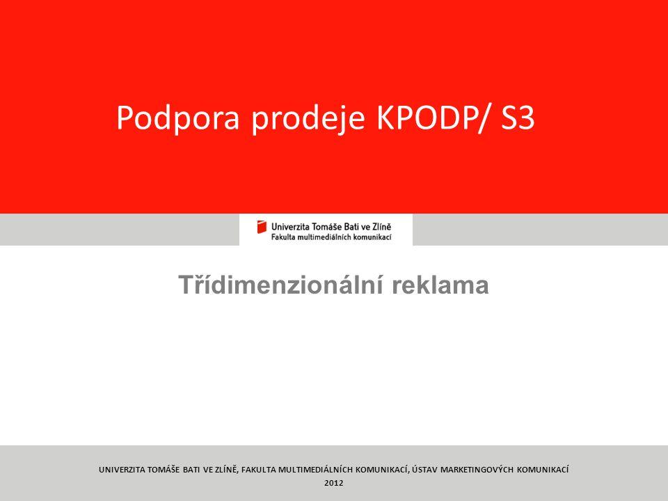 Podpora prodeje KPODP/ S3